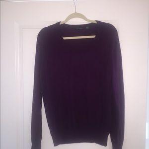 Moda International Purple XL Silk Cashmere Sweater